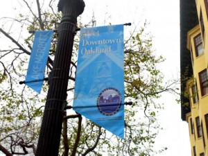 Lake Merritt banner on Broadway